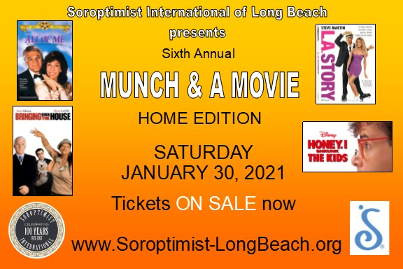 Save the Date - Munch and a Movie - Home Edition Saturday, Jan 30, 2021